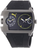 Puma Time Men's Quartz Watch Traffic Anthracite Yellow PU102421003 with Rubber Strap