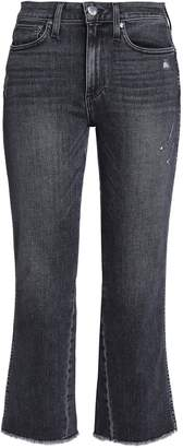 Alice + Olivia Frayed Frayed Mid-rise Bootcut Jeans