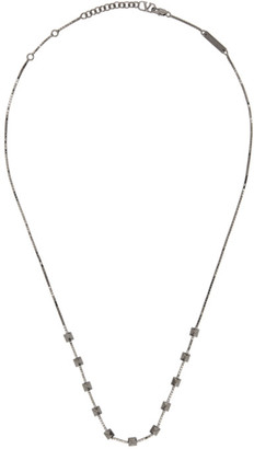 Valentino Gunmetal Rockstud Chain Necklace