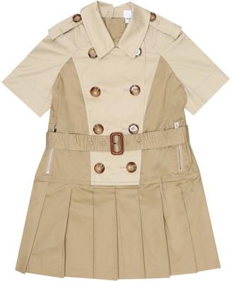 BURBERRY KIDS Stretch-cotton dress
