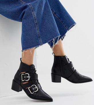 Miss Selfridge cut out buckle boot