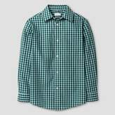 Cat & Jack Boys' Button Down Shirt - Cat & Jack Green Blue Checks