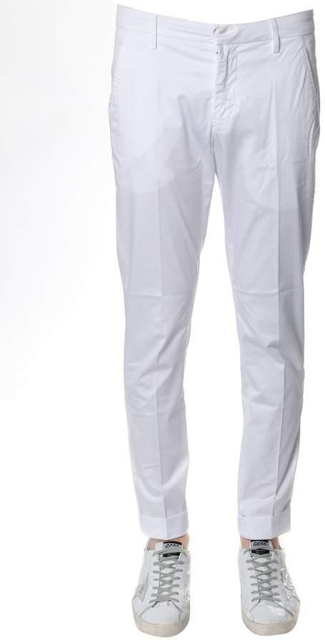 Dondup Gaubert Classic Pants In White Cotton