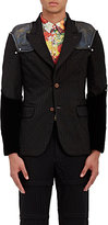 Comme des Garcons Men's Deconstructed-Sleeve Two-Button Sportcoat-BLACK