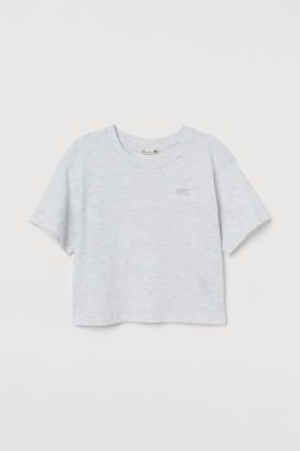 H&M Straight-cut T-shirt - Gray