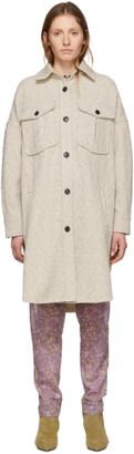 Etoile Isabel Marant Off-White Wool Obira Coat