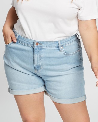 Lee Women's Blue Denim - Mid-Thigh Shorts - Size 7 at The Iconic
