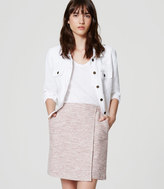 LOFT Tweed Wrap Skirt
