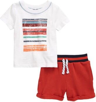 Splendid Stripe Graphic Tee & Shorts Set
