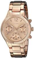 GUESS Women's U0323L3 Mid-Size Rose Gold-Tone Multi-Function Watch