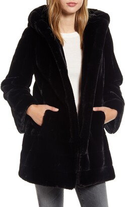 Gallery Faux Fur Swing Coat