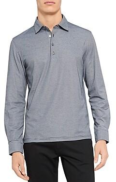 Theory Masser Long Sleeve Polo Shirt