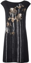 Class Roberto Cavalli floral intarsia mini dress - women - Mohair/Alpaca/Polyamide - 40