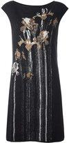 Class Roberto Cavalli floral intarsia mini dress