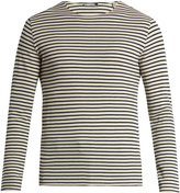 Vince Striped waffle-knit cotton T-shirt