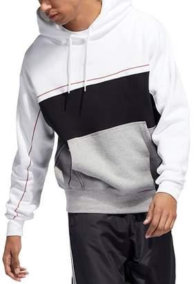 adidas Rivalry Color-Blocked Hooded Sweatshirt