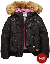 Animal Girls Faux Fur Hooded Padded Coat