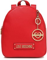 Love Moschino Logo-embellished Textured-leather Backpack