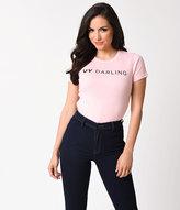 Unique Vintage Light Pink UV Darling Short Sleeve Cotton Tee