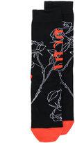 Diesel rose print socks - men - Cotton/Nylon/Spandex/Elastane - S