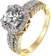 Master of Bling Solitaire Wedding Ring Womens Engagement Simulated Diamond 14k Finish Bridal