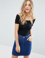 Asos Short Sleeve Off Shoulder Body