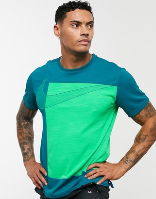 Nike Training superset graphic t-shirt in blue