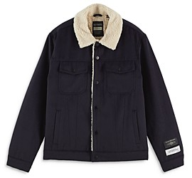 Scotch & Soda Sherpa Lined Regular Fit Trucker Jacket