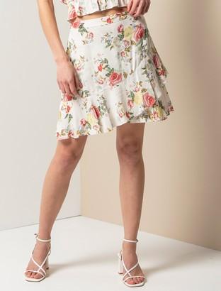 Forever New Giselle Mini Ruffle Skirt - Spring Botanical - 10