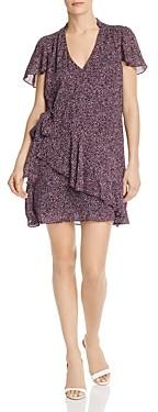 Parker Indie Ruffled Printed Silk Dress