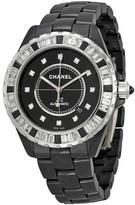 Chanel J12 Automatic Black Diamond Dial Black Ceramic Men's Watch
