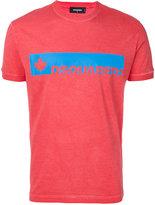 DSQUARED2 logo print T-shirt - men - Cotton - S