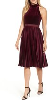 Ted Baker Women's Cornela Pleated Velvet Dress