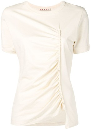 Marni ruched detail T-shirt