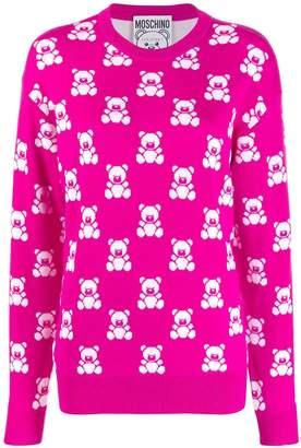 Moschino jacquard teddy bear sweater