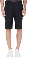 Vince MEN'S SLUB-WEAVE SHORTS-NAVY SIZE 36