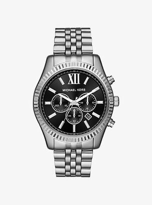 Michael Kors Oversized Lexington Silver-Tone Watch - Silver