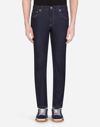 Dolce & Gabbana Slim-Fit Stretch Jeans With Patch