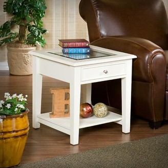 Off-White Mcdorman 1 Drawer End Table Alcott Hill Color