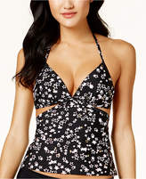Hula Honey Juniors' Starstruck Cutout Halter Tankini Top, Created for Macy's Women's Swimsuit