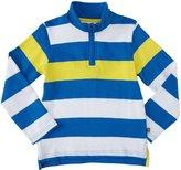 E-Land Kids Stripe SweatShirt (Toddler/Kid) - Nautic Blue-2T