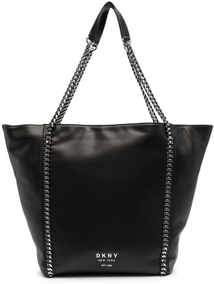 DKNY Alixis chain-link trim tote bag