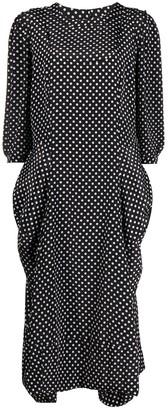Comme des Garçons Comme des Garçons Polka Dot Print Midi Dress