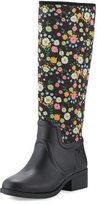 Tory Burch April Floral Rain Boot, Vilette