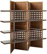 o.r.e International 4-Panel Finish Room Divider with Book Shelves