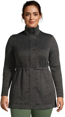 Lands' End Petite Plus Size Utility Sweater Fleece Coat