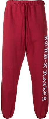 Bornxraised Embroidered Logo Track Pants