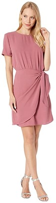 Mulberry American Rose Gianna Short Sleeve Dress with Side Tie Women's Dress