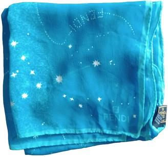 Fendi Turquoise Silk Scarves