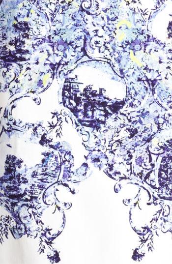 Erdem Milandes Print Crepe Back Satin Sheath Dress